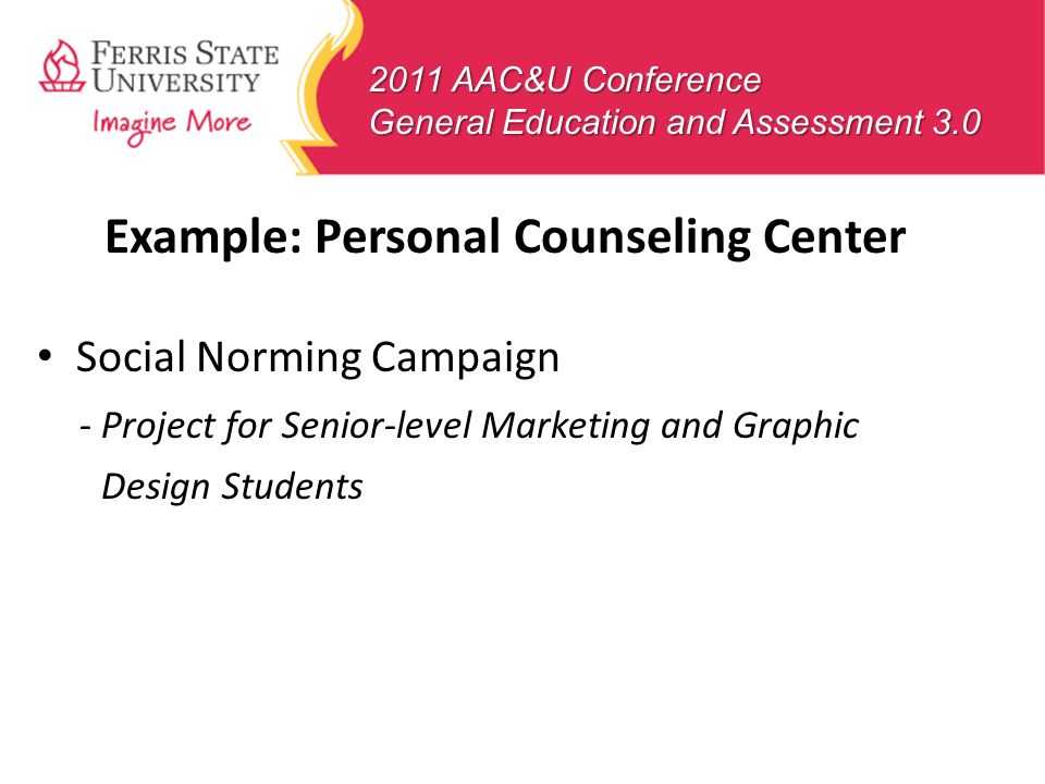 Example: Personal Counseling Center