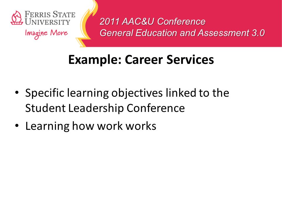 Example: Career Services