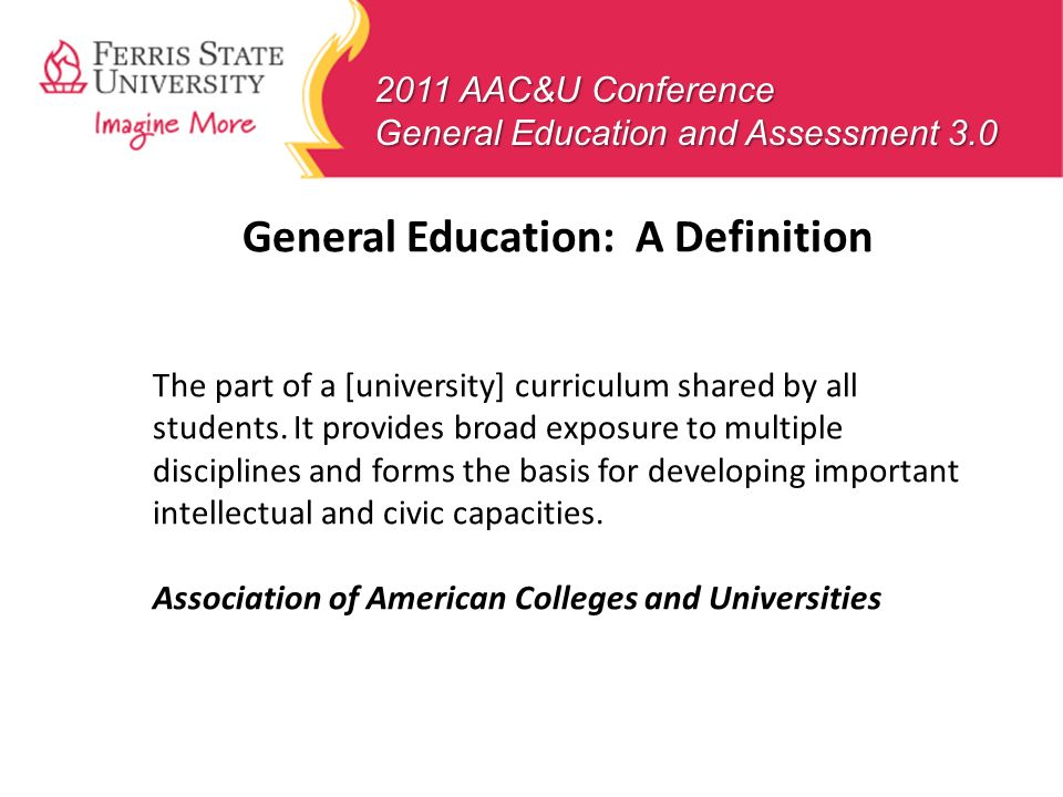 General Education: A Definition