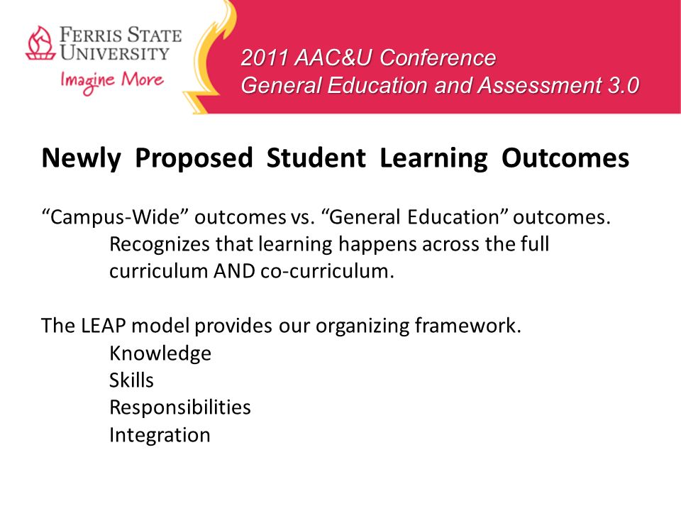 Newly Proposed Student Learning Outcomes