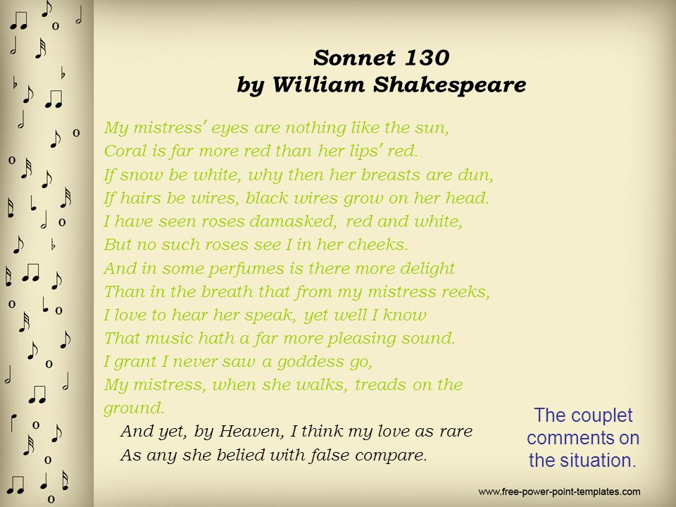 a comparison of daniels sonnet 6 and shakespeares sonnet 130 Other version of this work in the oxford shakespeare: the complete works: original-spelling edition eds stanley wells, gary taylor, john jowett, and william montgomery (1987) other version of this work in the oxford shakespeare: the complete works (second edition) eds stanley wells, gary taylor, john jowett, and william.