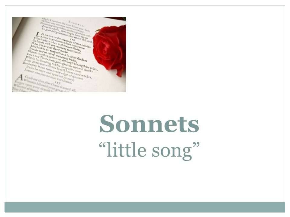Sonnets little song