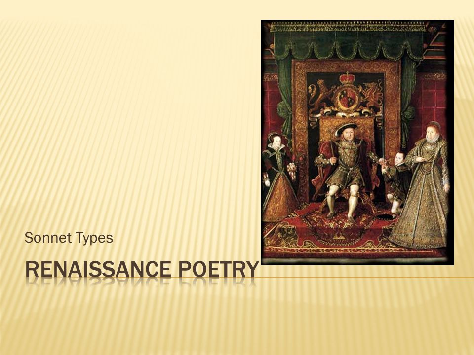 Sonnet Types Renaissance Poetry