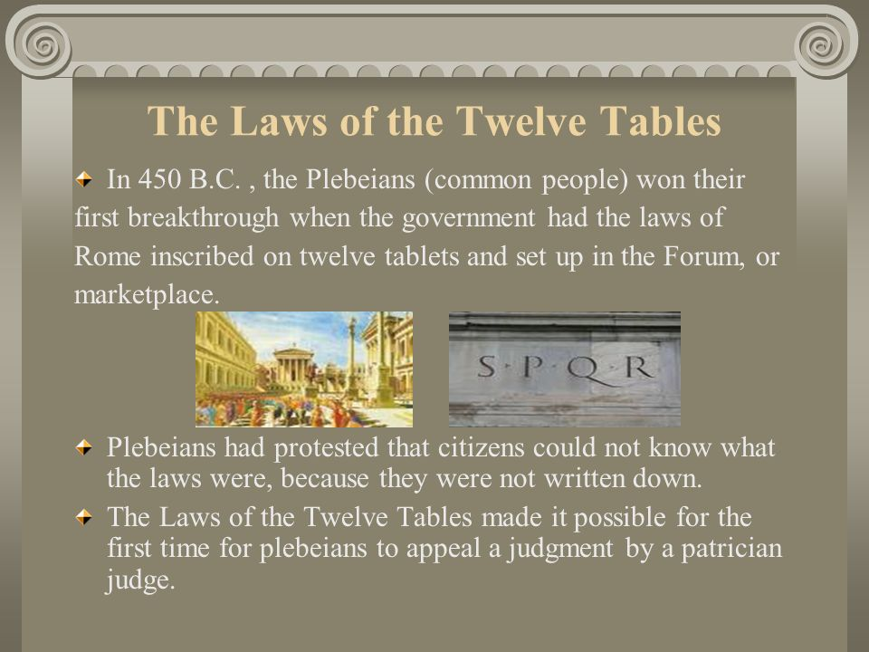 The Laws of the Twelve Tables