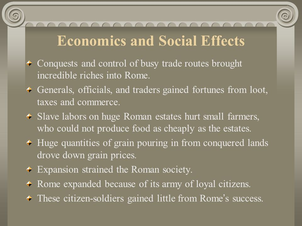 Economics and Social Effects