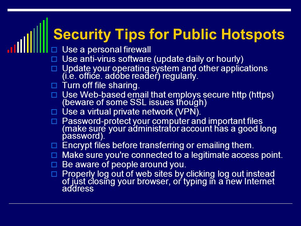 Security Tips for Public Hotspots