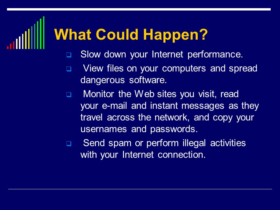 What Could Happen Slow down your Internet performance.