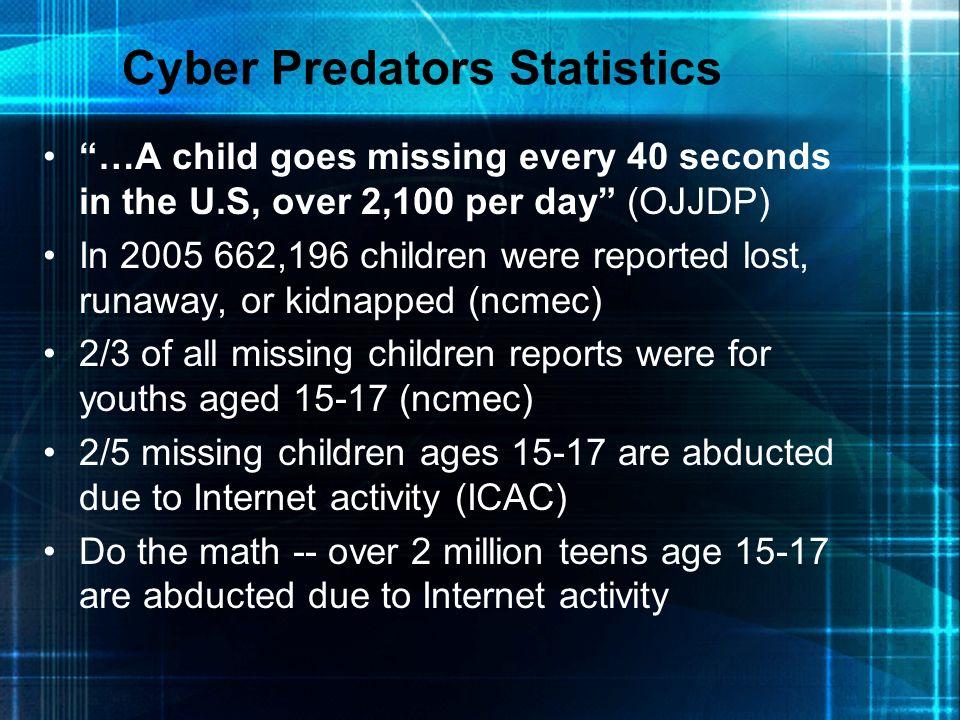 Cyber Predators Statistics