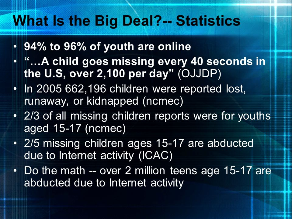 What Is the Big Deal -- Statistics