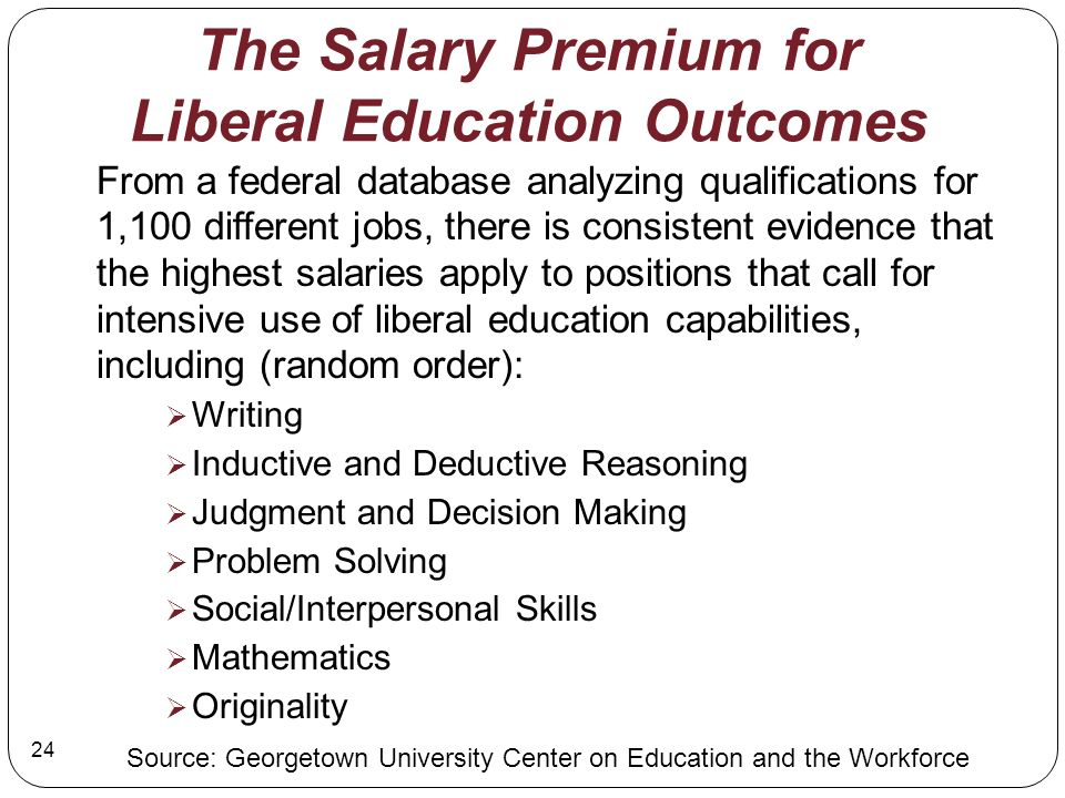 The Salary Premium for Liberal Education Outcomes