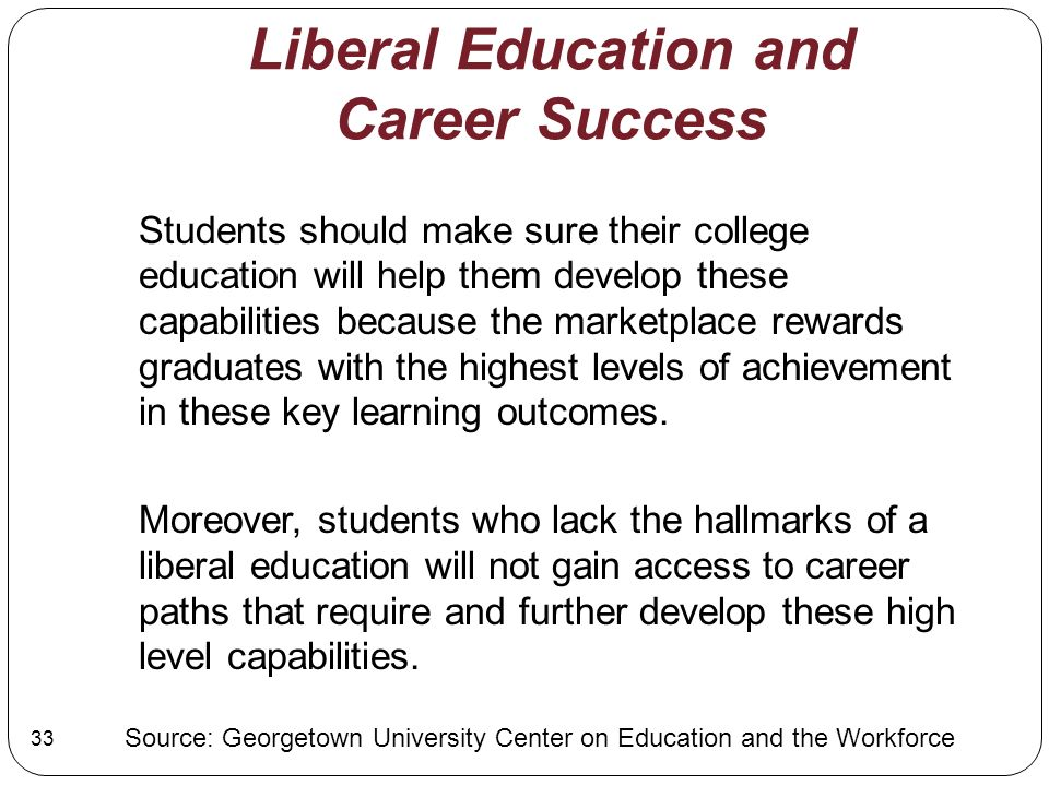 Liberal Education and Career Success