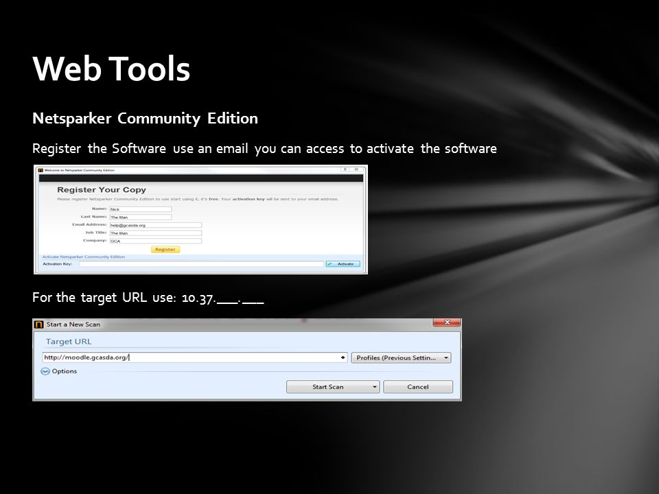 Web Tools Netsparker Community Edition
