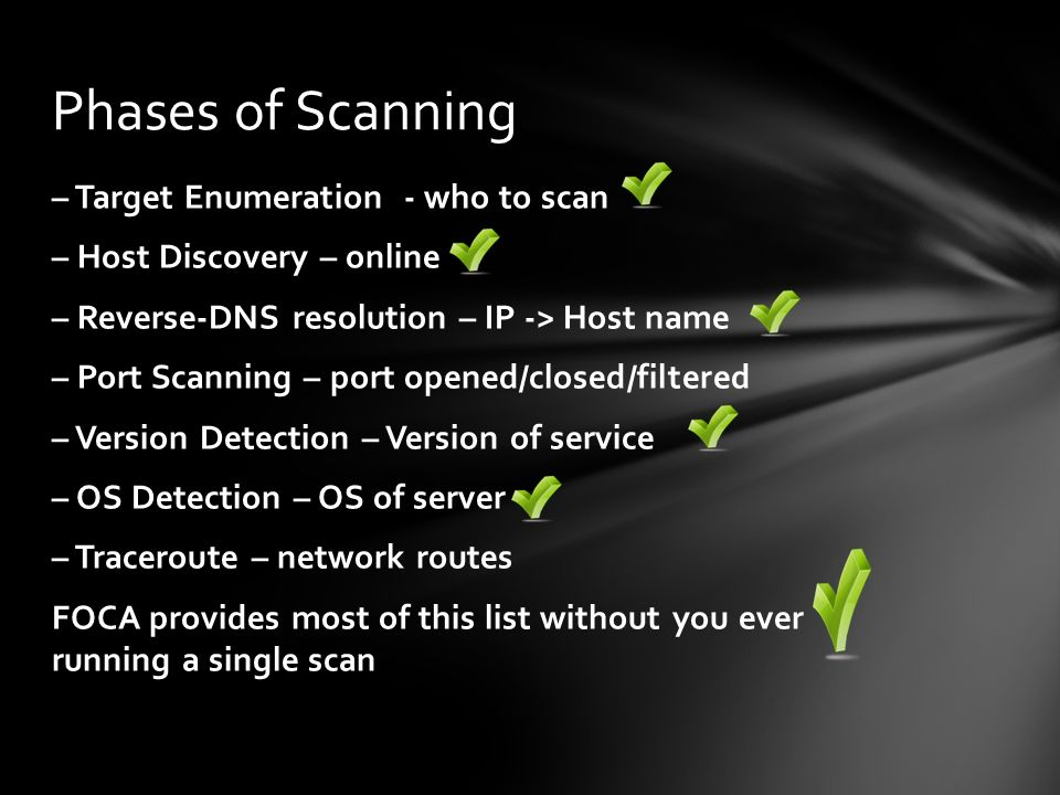 Phases of Scanning