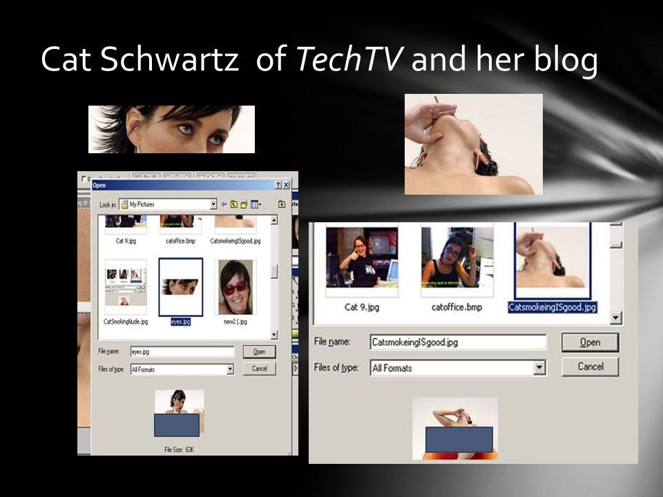 Cat Schwartz of TechTV and her blog