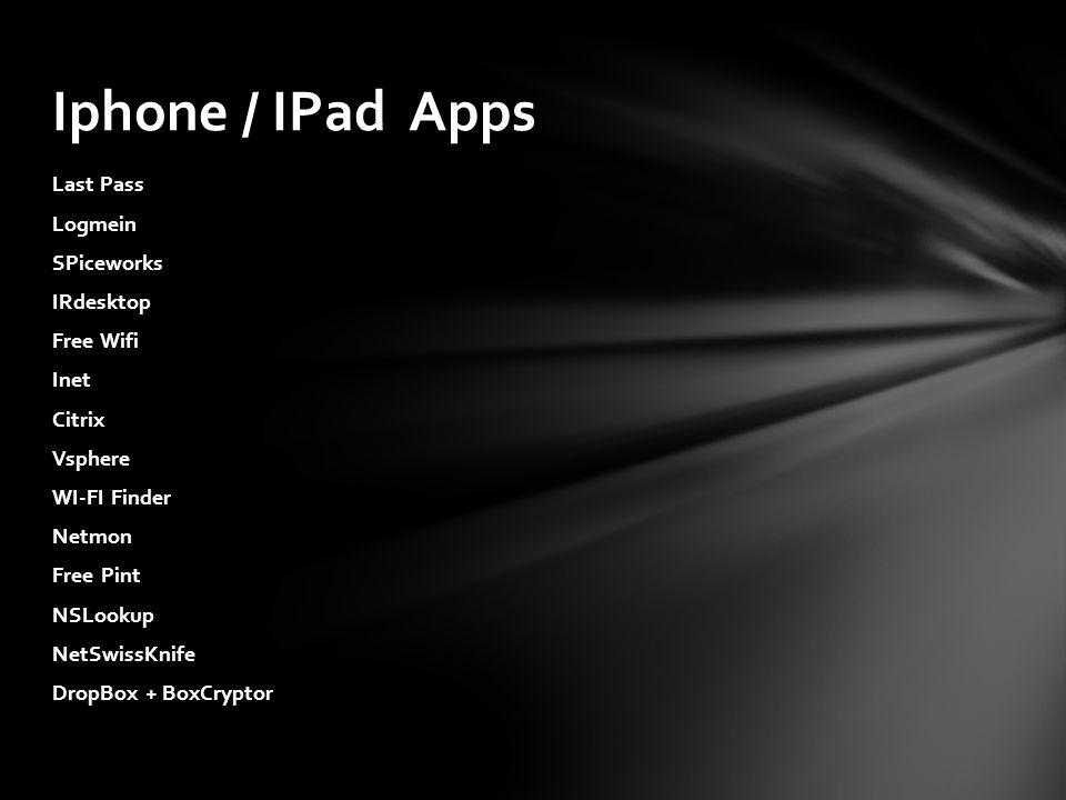 Iphone / IPad Apps