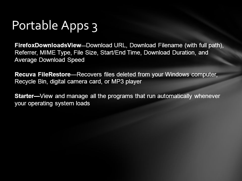 Portable Apps 3