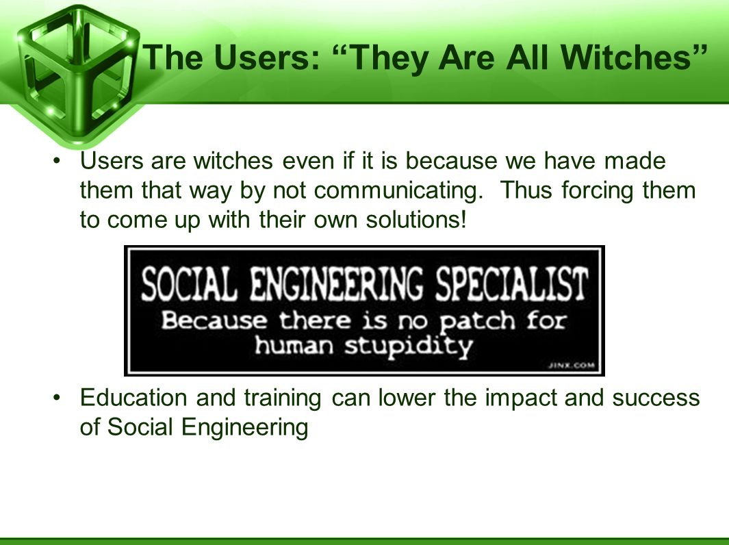 The Users: They Are All Witches
