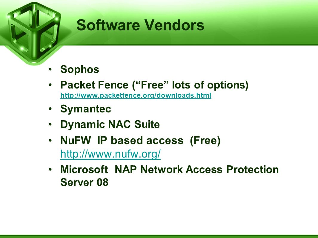 Software Vendors Sophos