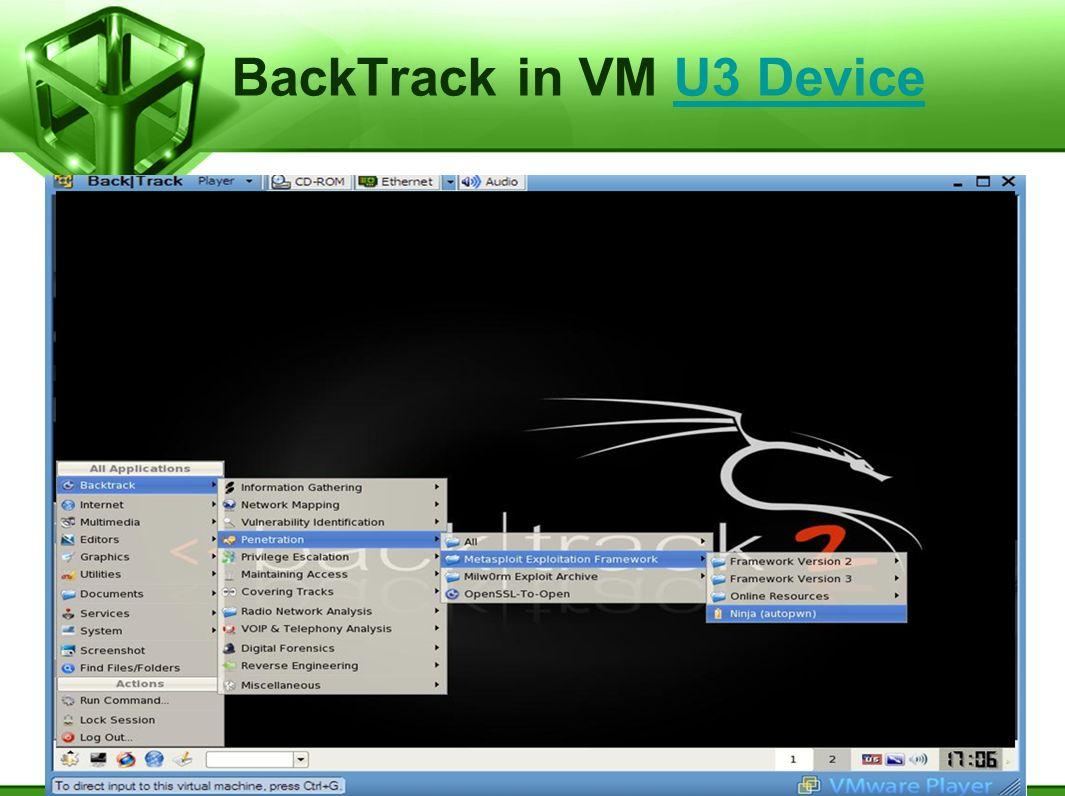 BackTrack in VM U3 Device