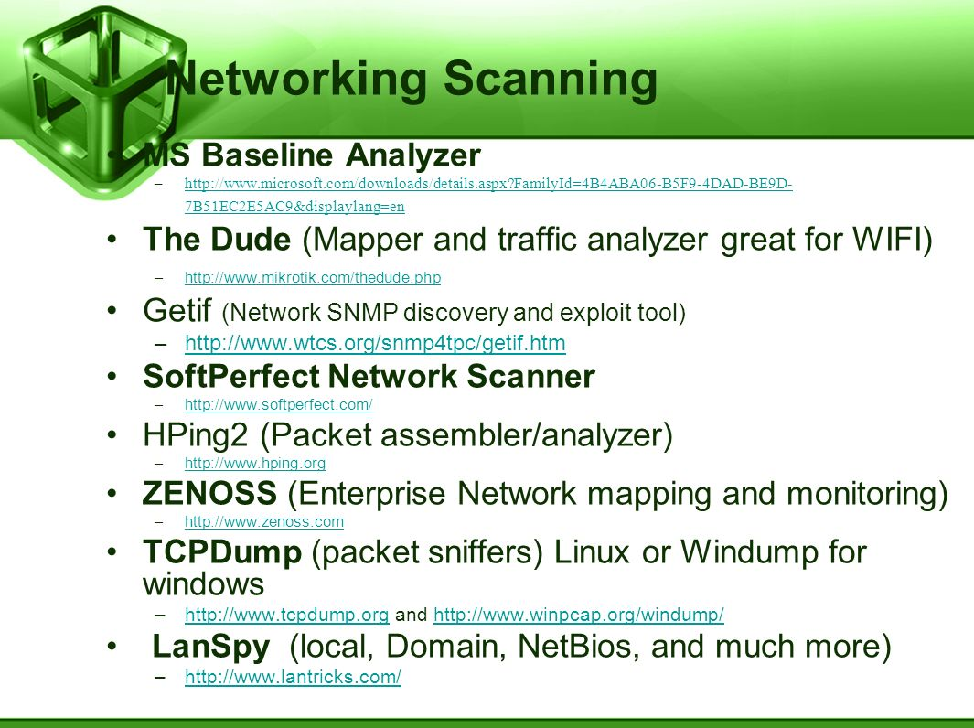 Networking Scanning MS Baseline Analyzer