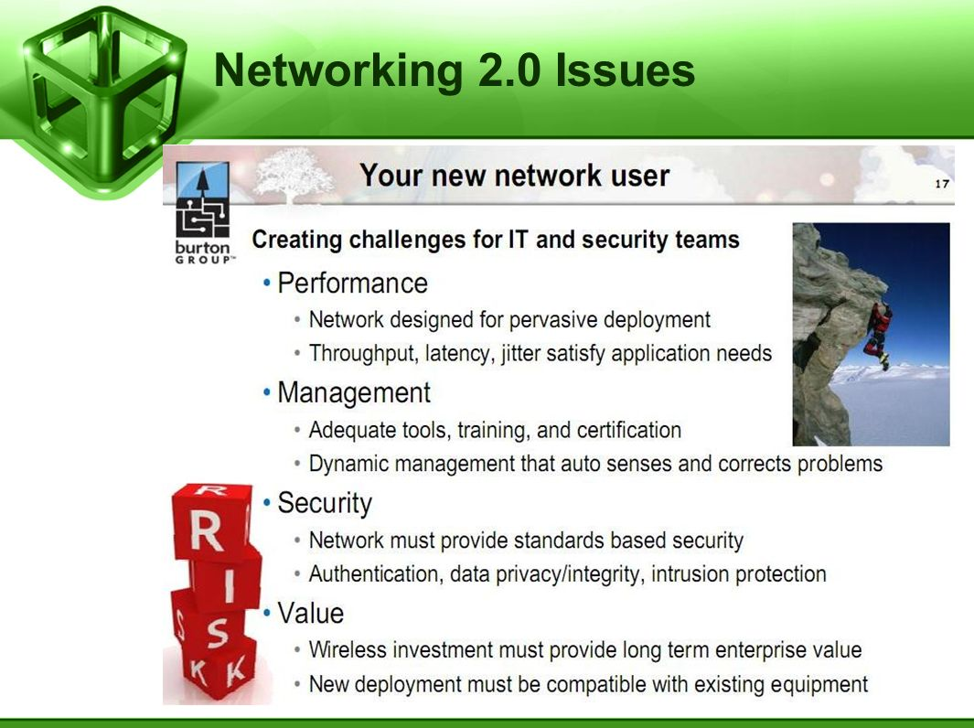 Networking 2.0 Issues