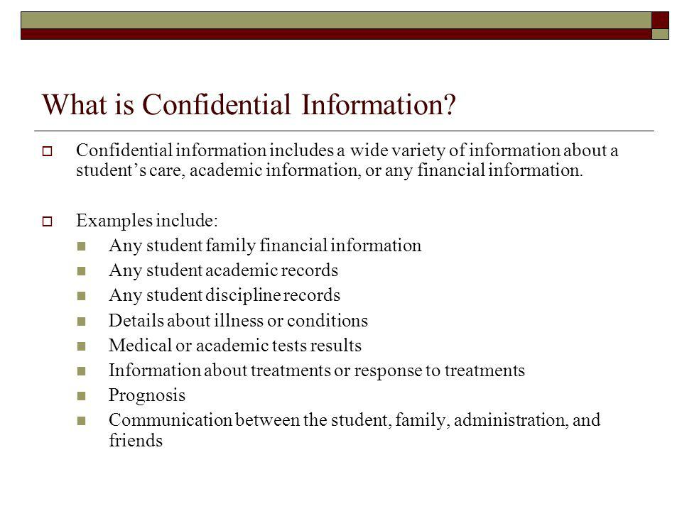 What is Confidential Information