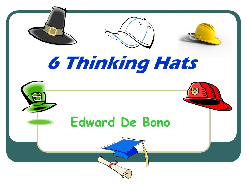 edward de bono six thinking hats pdf