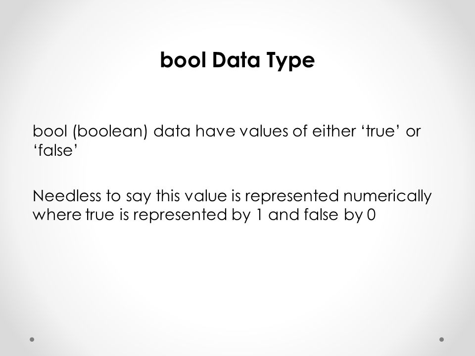 bool Data Type