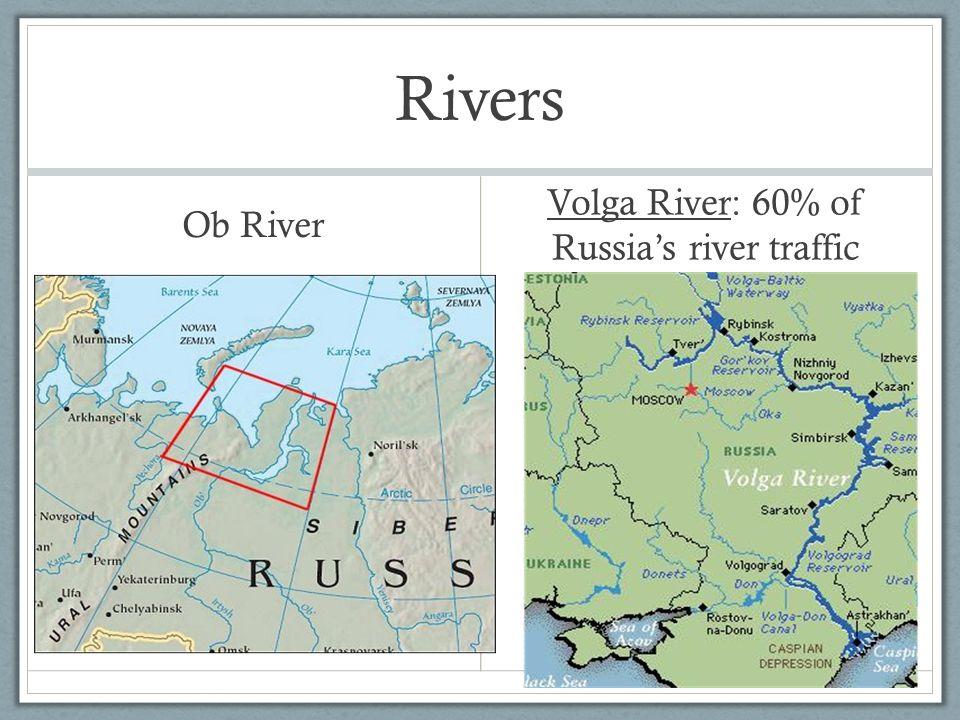 Ob River And Volga River Map Image Collections Diagram