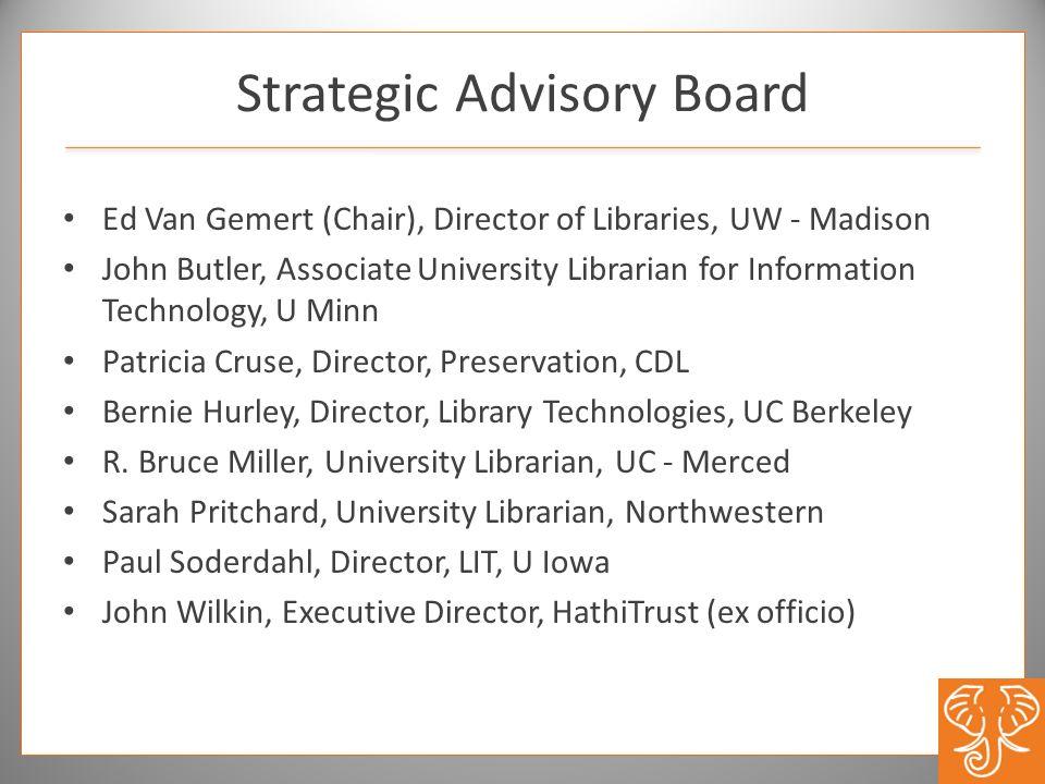 Strategic Advisory Board
