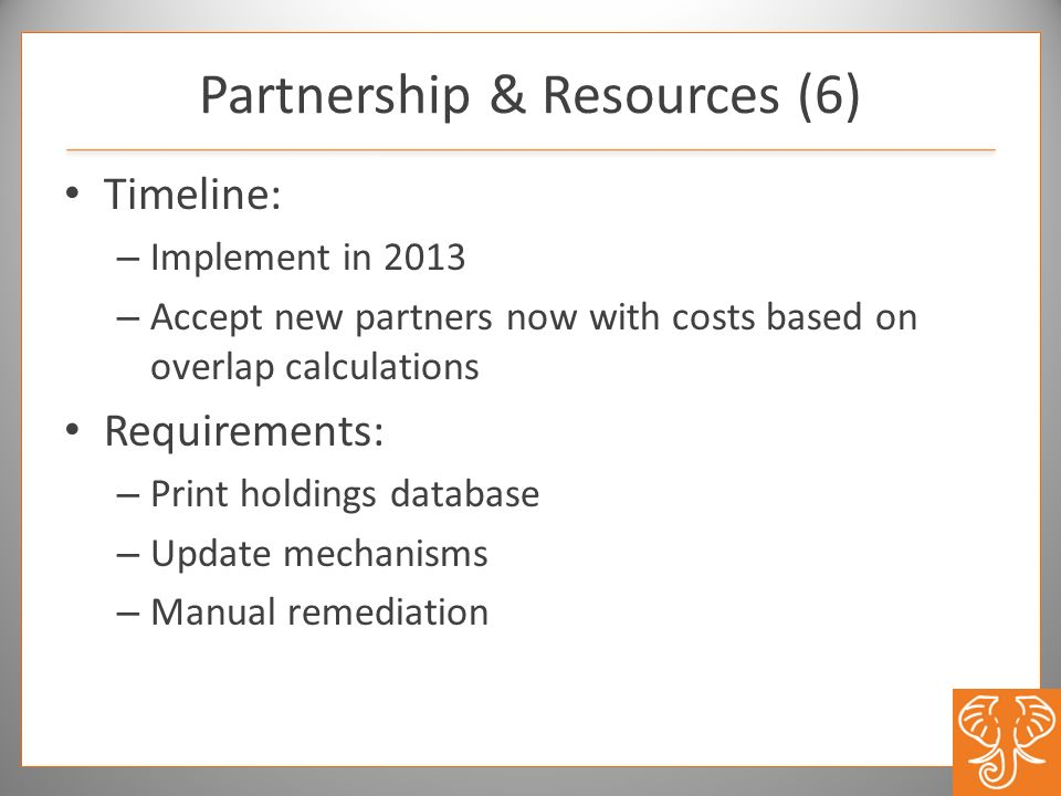Partnership & Resources (6)