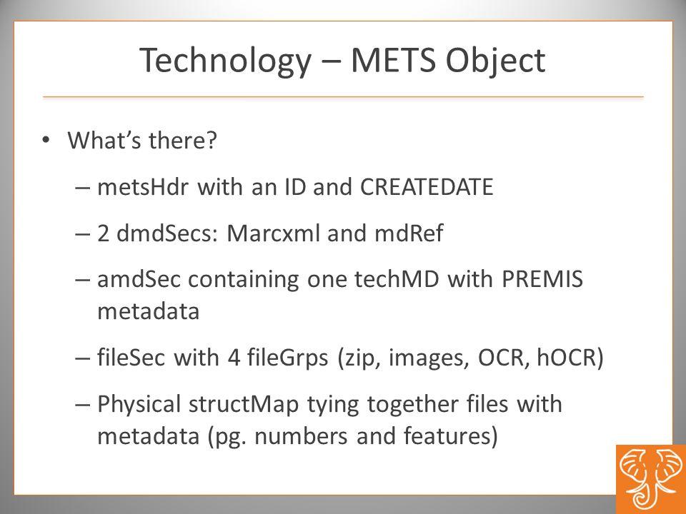 Technology – METS Object