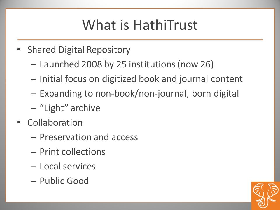 What is HathiTrust Shared Digital Repository