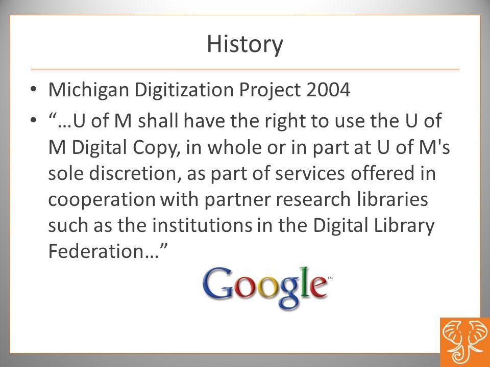 History Michigan Digitization Project 2004