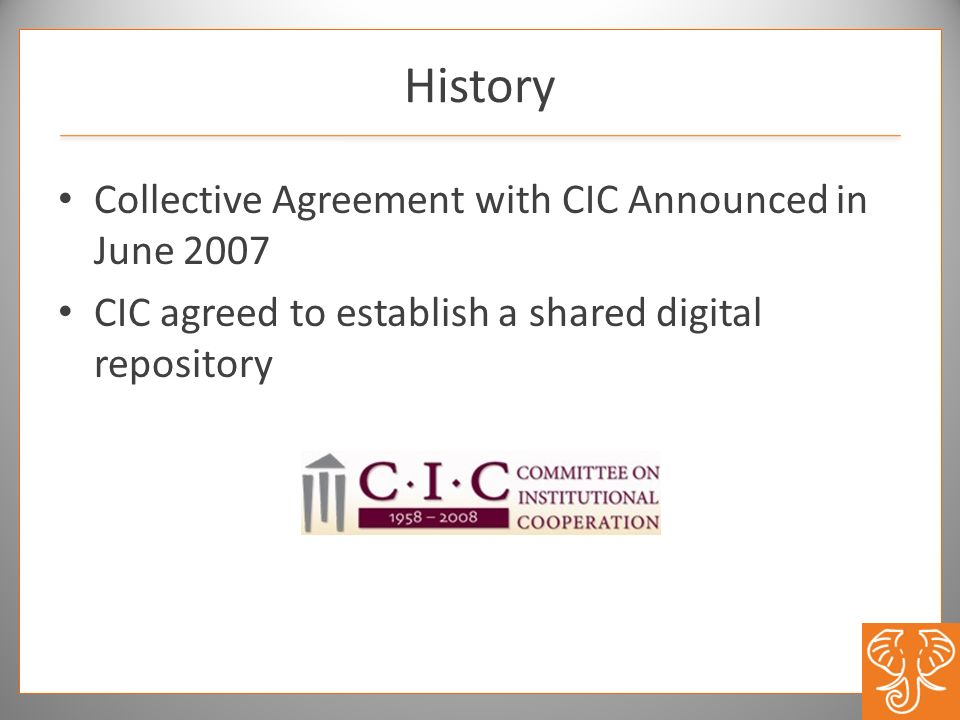 History Collective Agreement with CIC Announced in June 2007