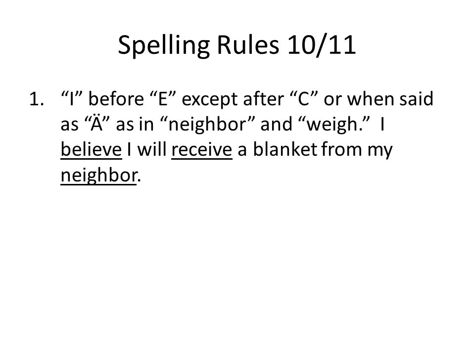 Sat spelling tips the spelling rules ppt download 4 spelling sciox Image collections