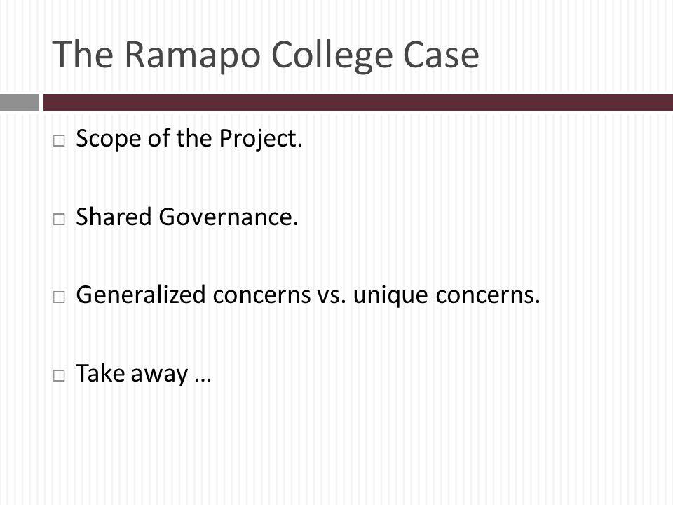 The Ramapo College Case