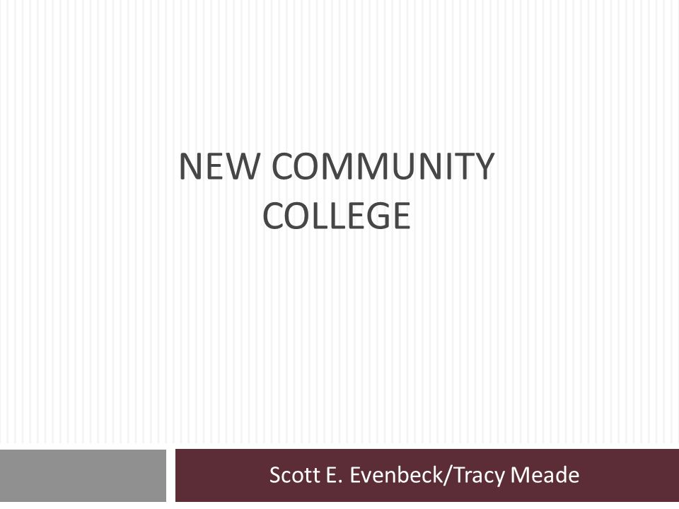 Scott E. Evenbeck/Tracy Meade