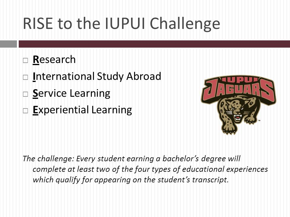 RISE to the IUPUI Challenge