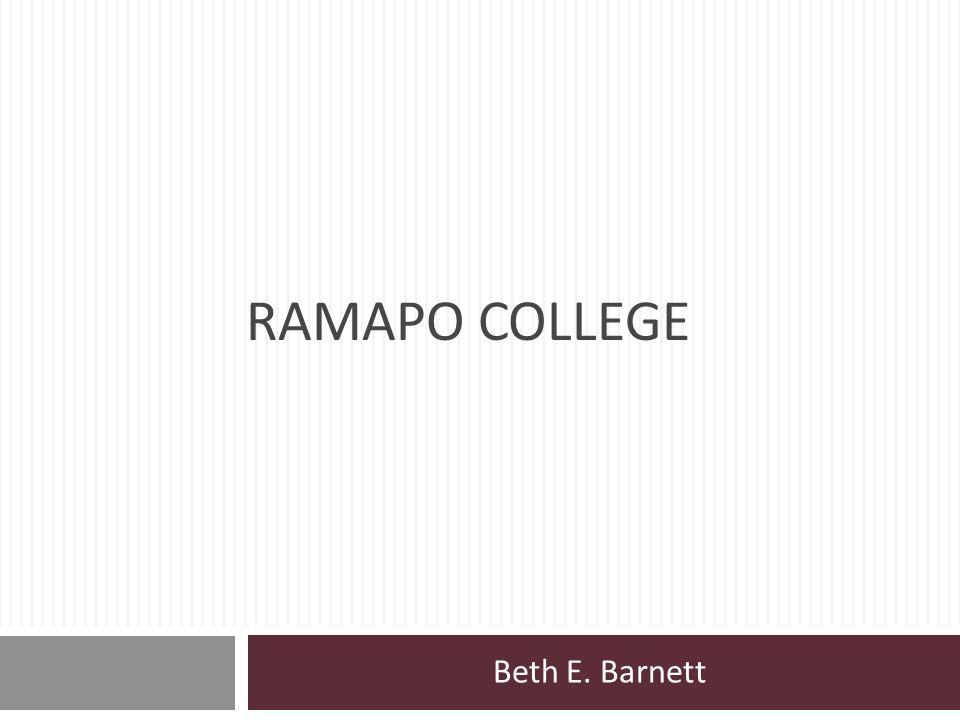 Ramapo College Beth E. Barnett