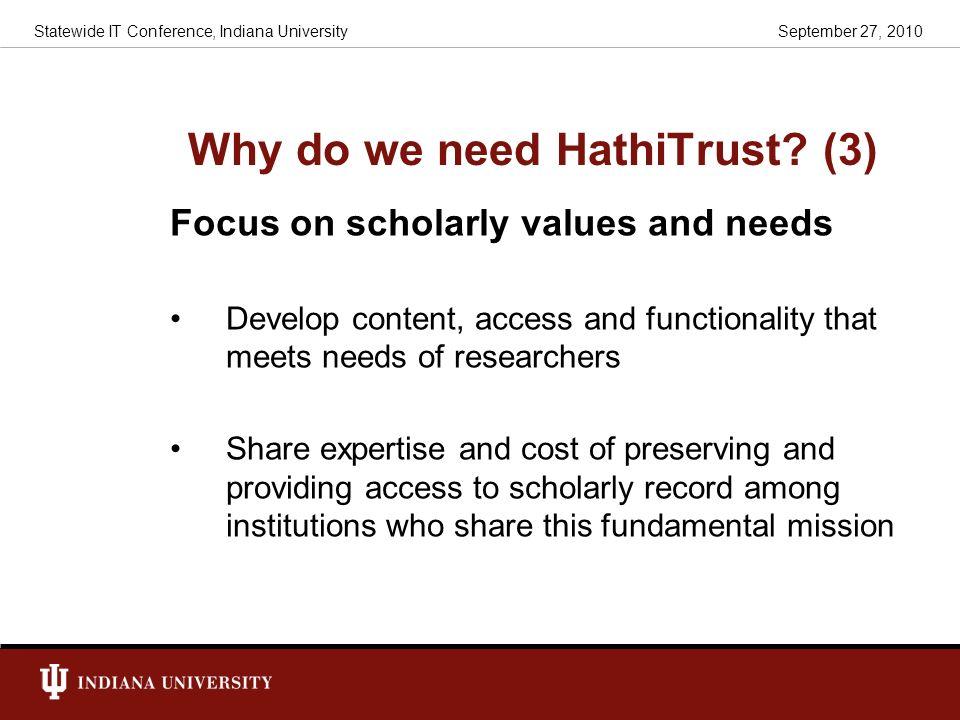 Why do we need HathiTrust (3)