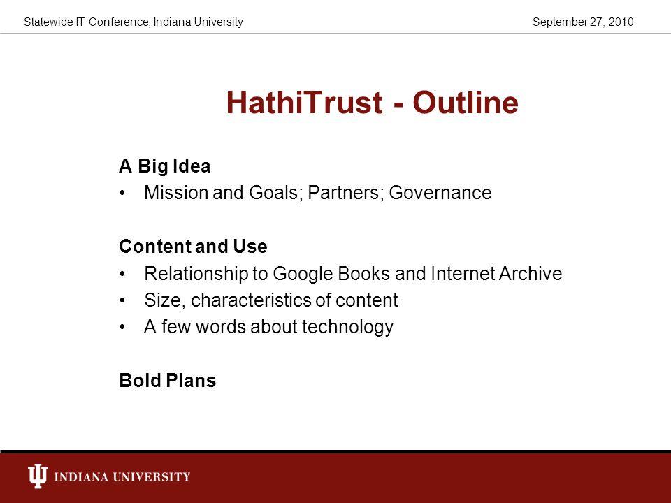 HathiTrust - Outline A Big Idea