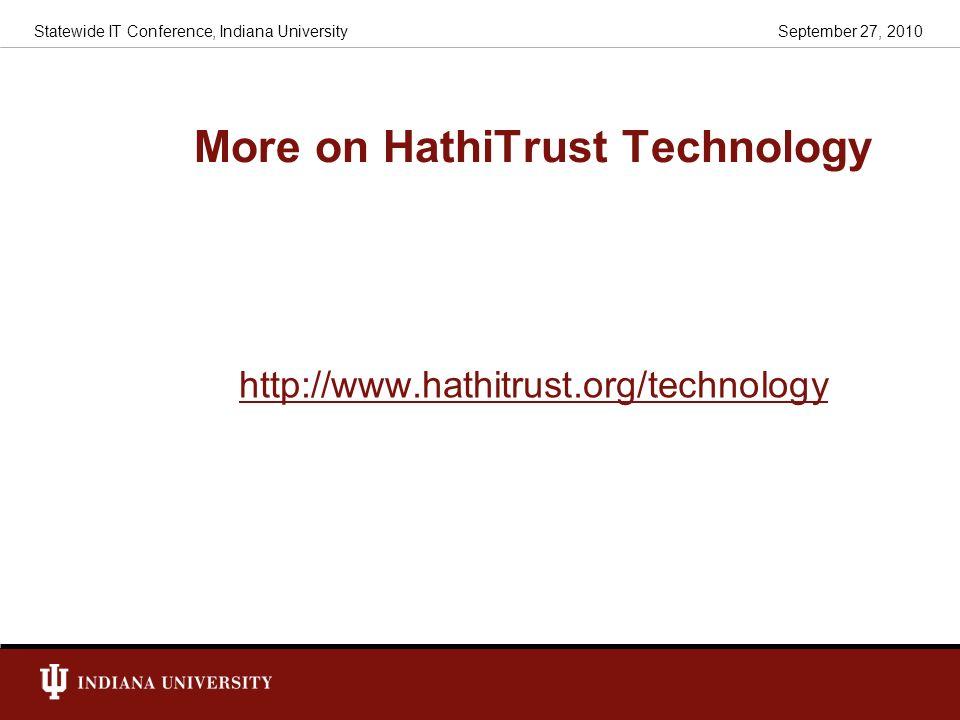 More on HathiTrust Technology