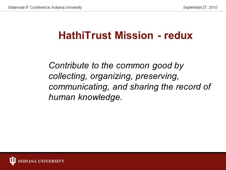 HathiTrust Mission - redux
