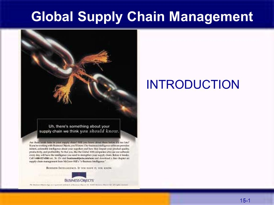 Global Supply Chain Management - PowerPoint PPT Presentation