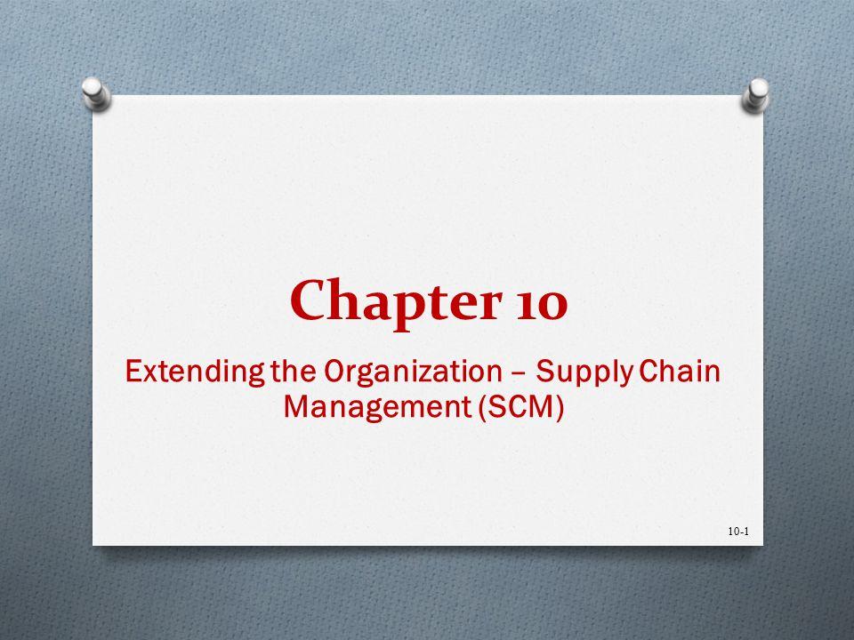 Extending the Organization – Supply Chain Management (SCM ...
