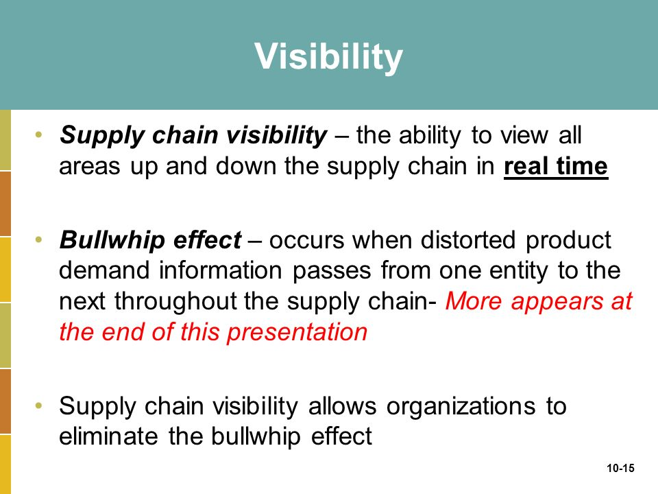 how supply chain visibility can change Its role or focus can change according to the individual needs of a supply chain  customer it is very much a concept of scale it can be part of the.