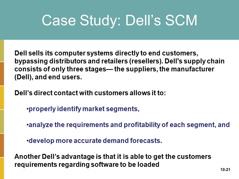dell case study If we see on the distribution side dell is mainly dependent on direct sales through internet, in order to enhance income by offerings large varieties of.