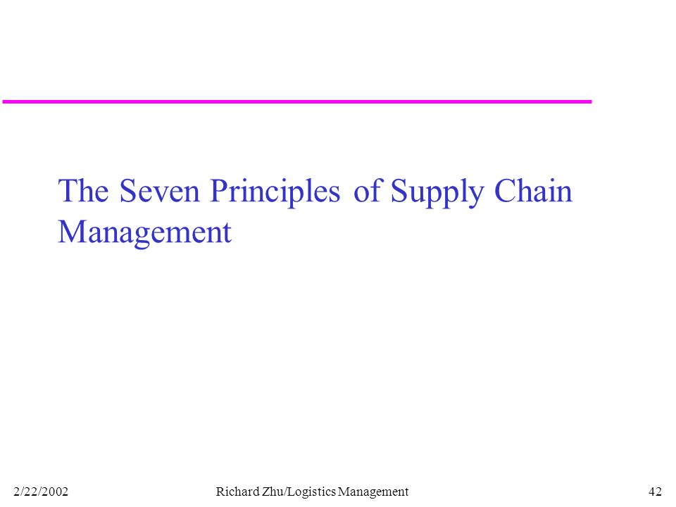 seven principles of supply chain management Supply chain management processes involve multiple people to ensure efficient scm to flow supply chain management professionals must execute these processes for success.