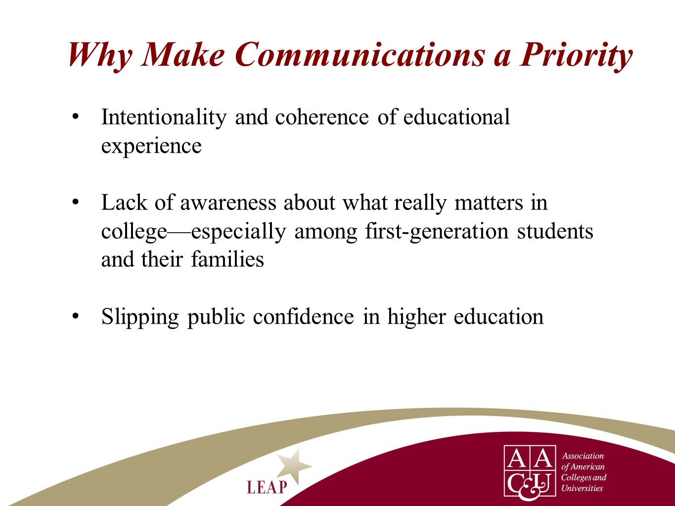 Why Make Communications a Priority